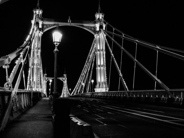 Albert Bridge at night
