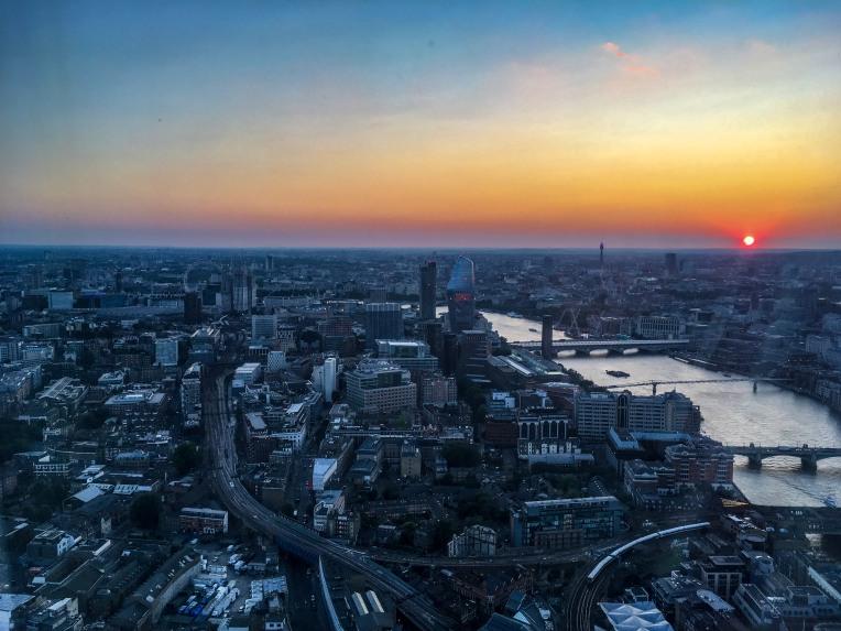 London Eye and the skyline