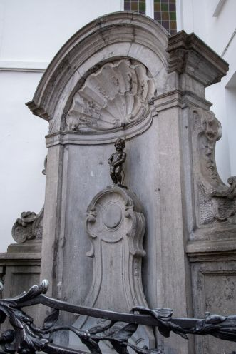 The 'Manneken Pis': An iconic Brussels attraction.